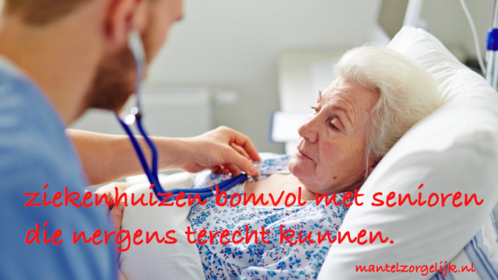 Ziekenhuizen Zitten Bomvol Met Senioren Die Nergens Terecht Kunnen.