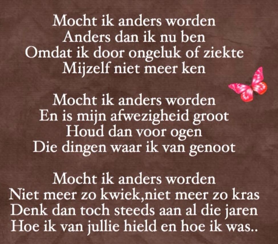 Mocht Ik Anders Worden #mantelzorg
