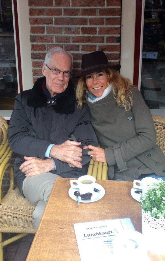 Minke met haar vader foto: Minke van der Deure