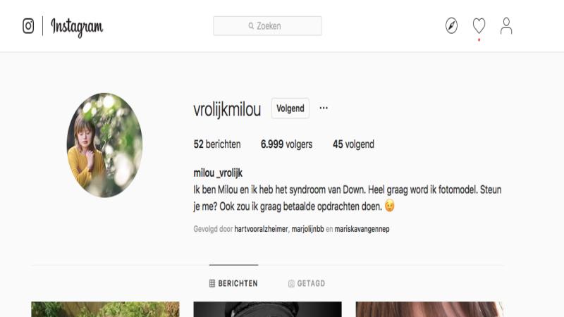 Milou Wil Fotomodel Worden. Steun Je Haar?